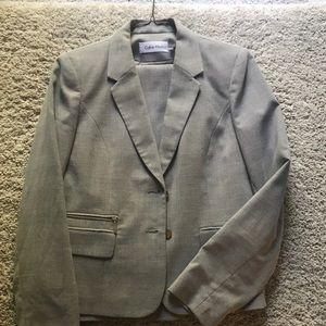 Calvin Klein two piece grey suit